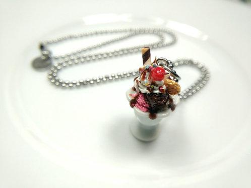 Neapolitan Ice Cream Sundae Necklace