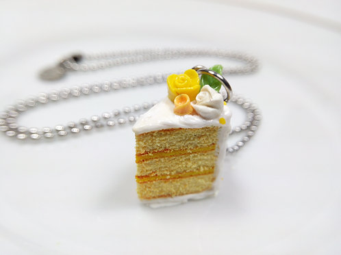 Spring Floral Cake Necklace