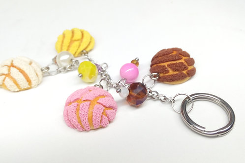 Colorful Sweet Bread Keychain