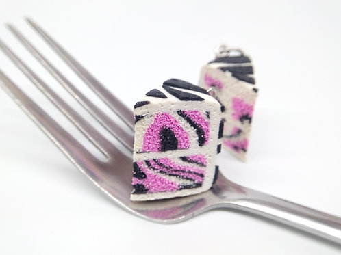 Pink Zebra Cake Charm