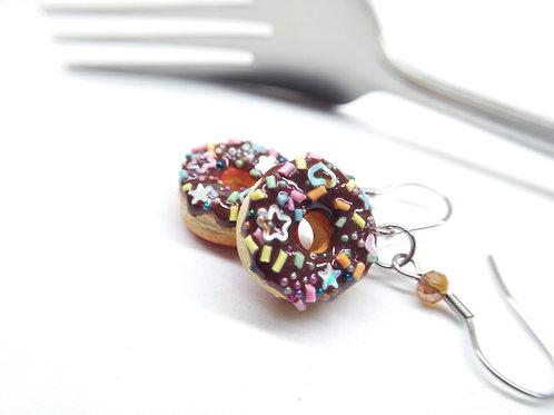 Chocofetti Donut Dangle Earrings