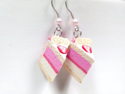 Strawberry & Banana Mousse Cake Earrings