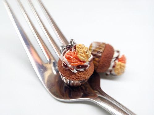 Pumpkin Spice Cupcake Charm