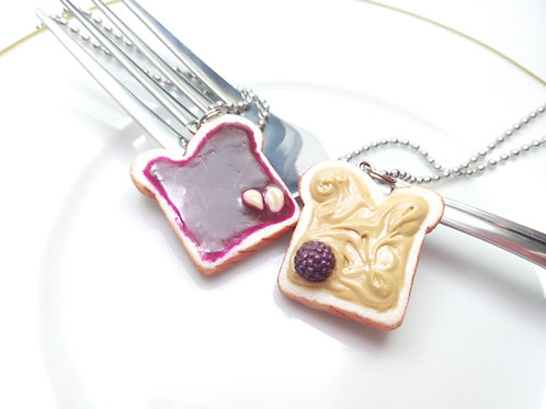 Peanut Butter & Blackberry Jelly Necklaces