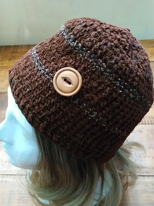 Brown Crochet Slouchy Beanie