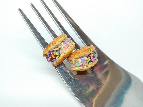 Cookie Ice Cream Sandwich Stud Earrings