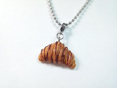 Chocolate Croissant Necklace