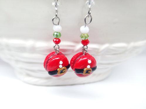 Santa Macaron Earrings