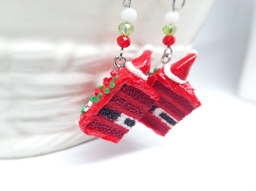 Santa Cake Earrings