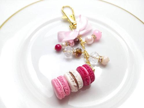 Pink Macaron Purse Charm