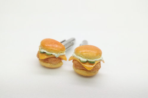 Fish Burger Cufflinks