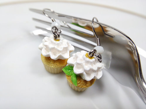 Spring Floral Cupcake Earrings