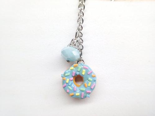Blue Sprinkle Donut Key Chain