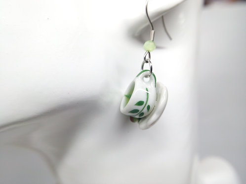 Green Tea & Lime Earrings
