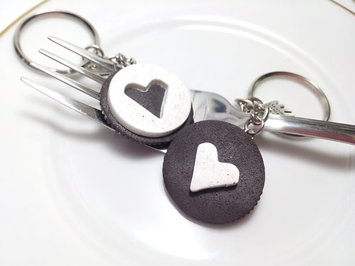 Best Friends Cookie Keychains