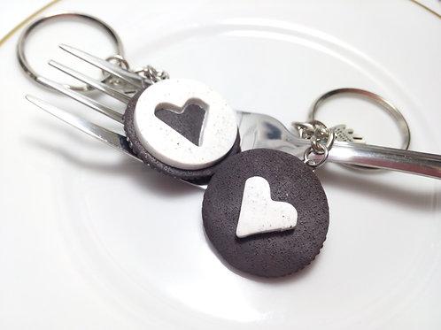 Best Friends Cookie Keychains