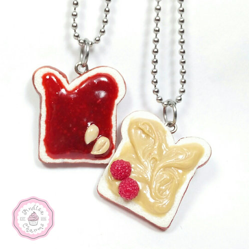 Peanut Butter & Raspberry Jelly Necklaces