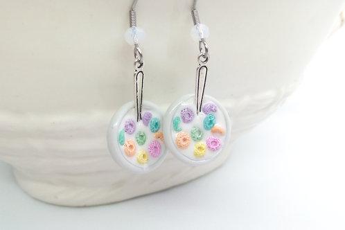 Rainbow Cereal Dangle Earrings