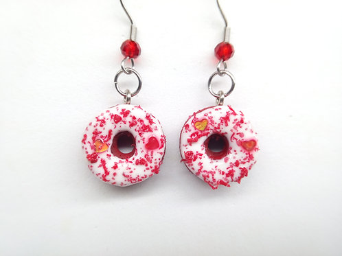 Red Velvet Donut Dangle Earrings