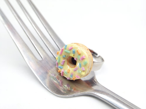 Yellow Sprinkle Donut Ring