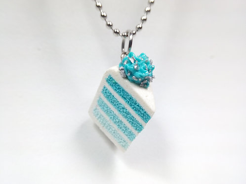 Blue Ombre Cake Necklace