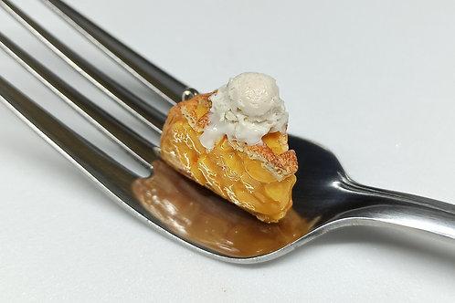 Peach Pie & Ice Cream Charm