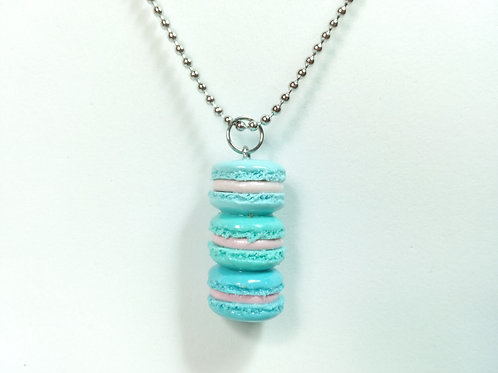 Turquoise Ombré Macaron Stack Necklace