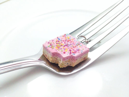 Strawberry Frosted Funfetti Cookie Bar Charm