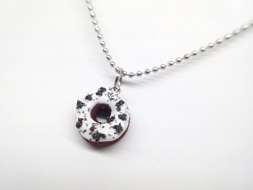 Cookies & Cream Donut Necklace