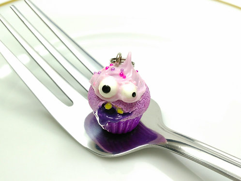 Grape Monster Cupcake Charm