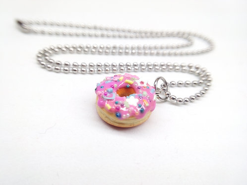 Pinkfetti Donut Necklace