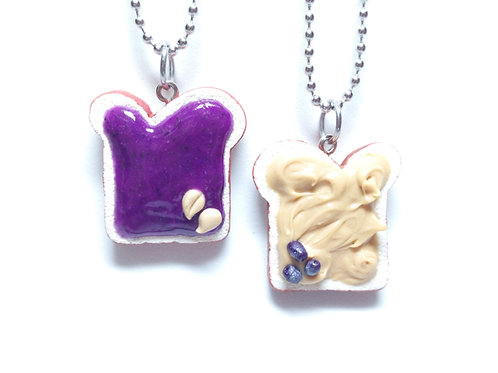 Peanut Butter & Grape Jelly Necklaces