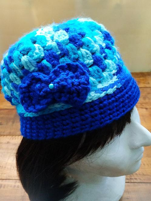 Blue Crochet Beanie