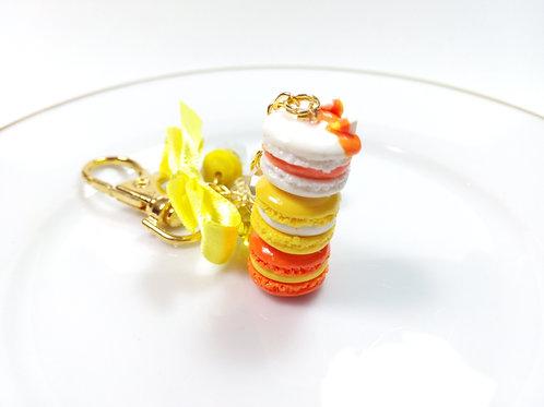 Candycorn Macaron Stack Charm