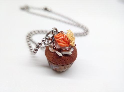 Pumpkin Spice Cupcake Necklace