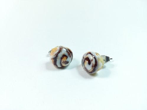 Cinnamon Roll Stud Earrings