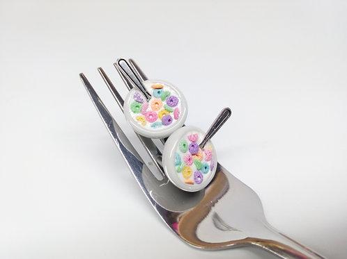 Rainbow Cereal Stud Earrings