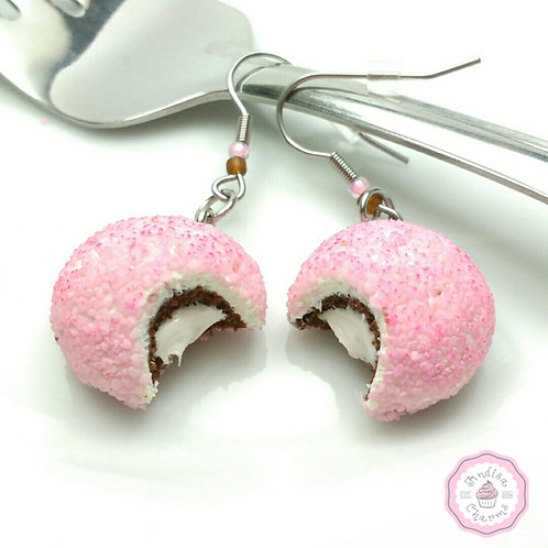 Pink Ball Cakes Earrings