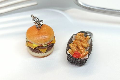 Double Cheeseburger and Fries Set