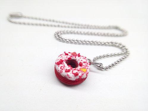Red Velvet Donut Necklace