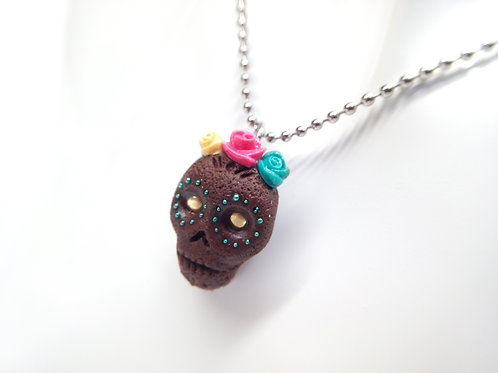 Brownie Skull Necklace