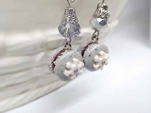 Winter Macaron Earrings