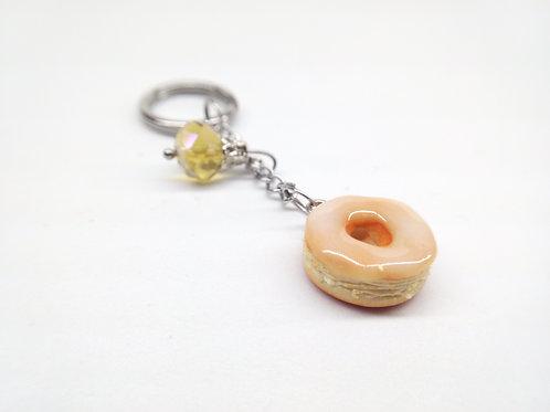 Glazed Donut Key Chain