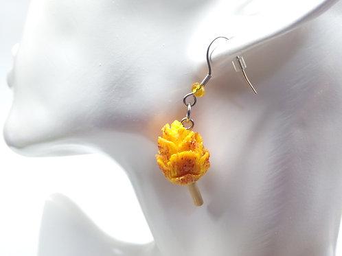 Mango Flower Dangle Earrings