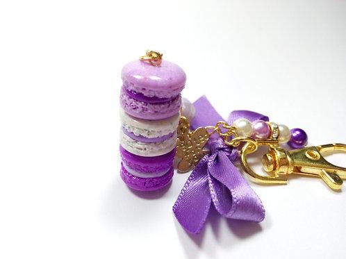 Purple Macaron Stack Charm