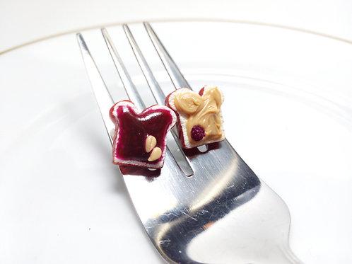 Blackberry Peanut Butter & Jelly Earrings