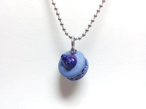 Blueberry Macaron Necklace