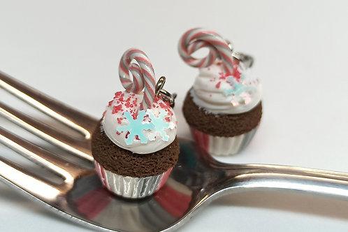Peppermint Snowflake Cupcake