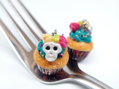 Day of the Dead Cupcake Charm