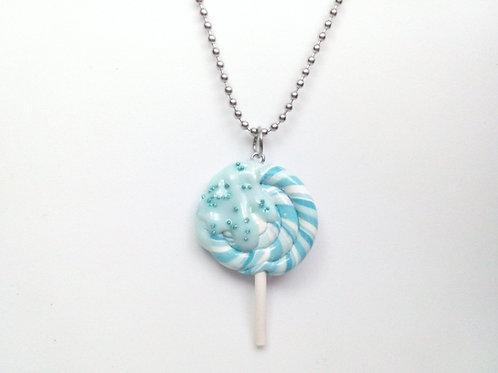 Blue Lollipop Necklace